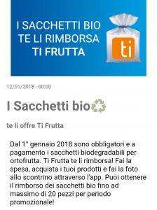 sacchetti biodegradabili gratis con ti frutta