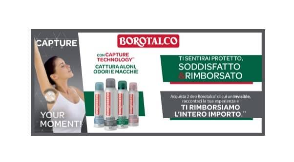 prova gratis borotalco insivisible no transfer